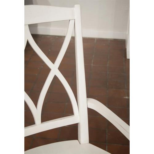 Myra - Xx-back Arm Chair - Paperwhite Finish