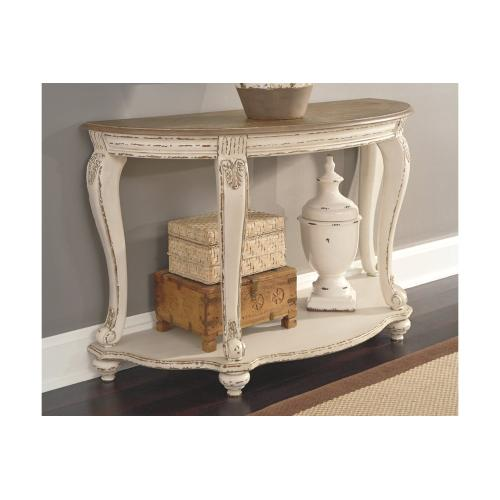 Realyn Sofa Table White/Brown