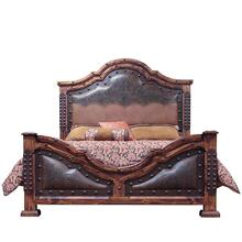 King Tooled Leather Bed