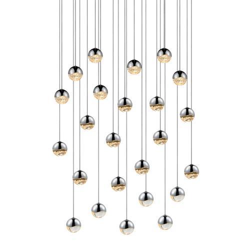 Sonneman - A Way of Light - Grapes® LED Pendant [Size=24-Light Small, Color/Finish=Polished Chrome, Shape=Round Canopy]