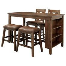 5 Piece Set (Pub Table, 2 Barstools and 2 Stools)