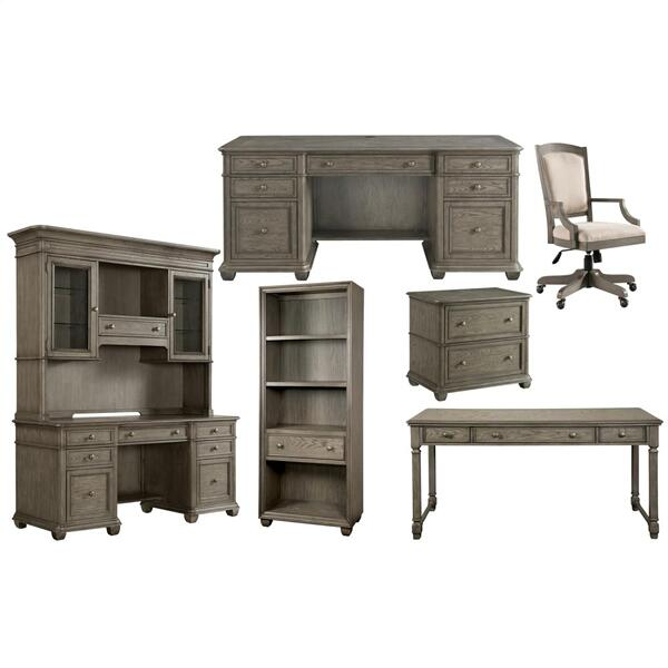 Sloane - Bunching Bookcase - Gray Wash Finish