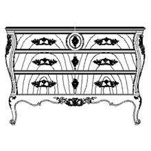 Louis XV crotch walnut chest of drawers