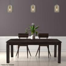 Hanover Ravenna Mango Wood Dining Table in Dark Brown, 60-In. W x 36-In. D x 30-In. H, HDR002-DKBRN