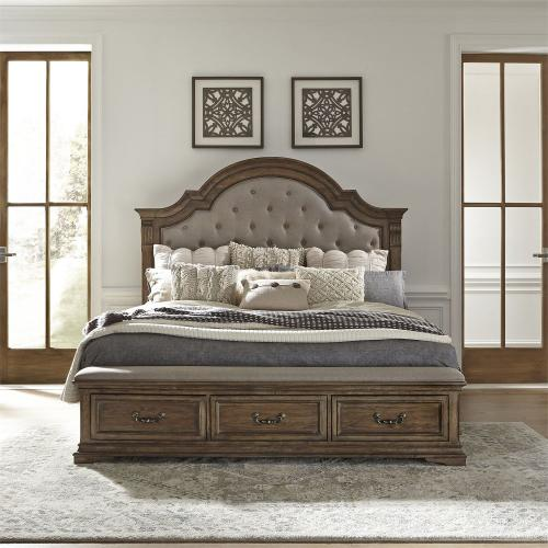 King Opt Storage Bed, Dresser & Mirror