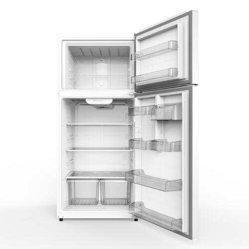 GE® 18 Cu. Ft. Top-Freezer Refrigerator White - GTS18FTLKWW