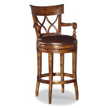 X-back Swivel Counter Stool