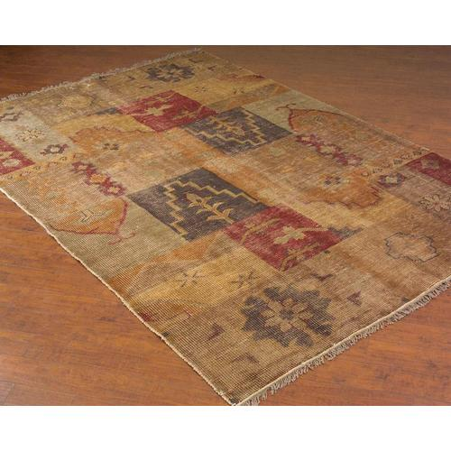 Hand-Woven Floral Patchwork Rug