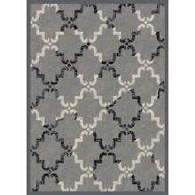 Home Basics Moroccan Tile Gray