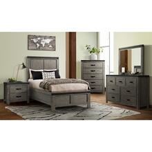6 Piece Set (Twin Panel Bed, Dresser, Mirror and Nightstand)