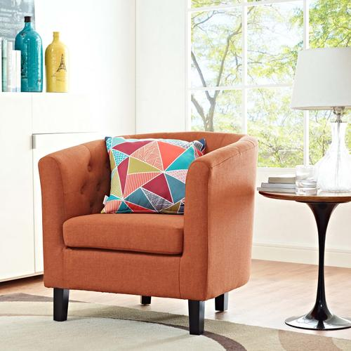 Modway - Prospect Upholstered Fabric Armchair in Orange