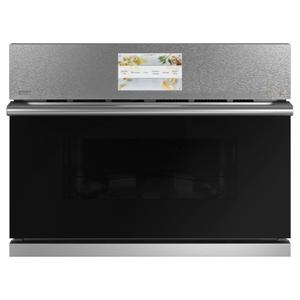 "Cafe AppliancesCafe 27"" Smart Five in One Oven with 120V Advantium ® Technology in Platinum Glass"