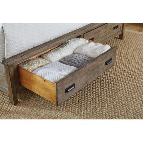 Panel Queen Bed - Complete W/ Storage Footboard