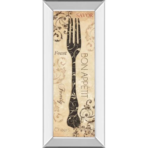 """Classy Art - """"Bon Appetite"""" By Dee Dee Mirror Framed Print Wall Art"""