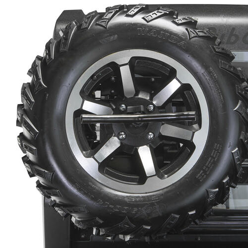 Spare Tire with Silver Rim