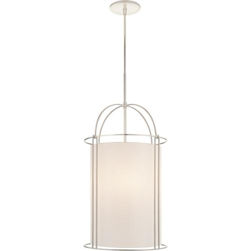 Visual Comfort BBL5058SS-S Barbara Barry Capitol 4 Light 18 inch Soft Silver Foyer Lantern Ceiling Light, Barbara Barry, Narrow, Silk Shade