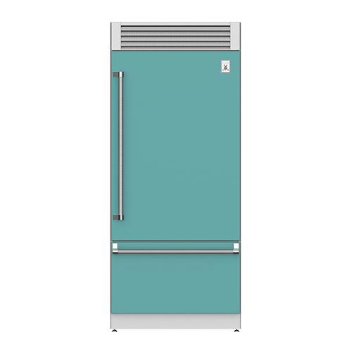 "Hestan - 36"" Pro Style Bottom Mount, Top Compressor Refrigerator - KRP Series - Bora-bora"
