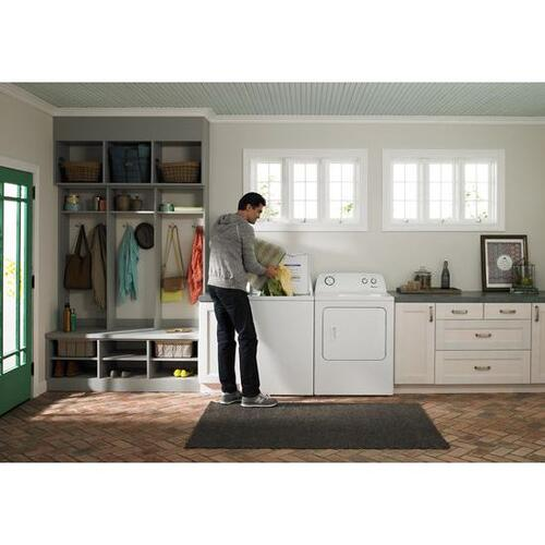 Amana - Amana® 7.0 cu. ft. Top-Load Dryer with Interior Drum Light - white