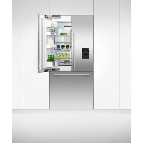 "Fisher & Paykel - Integrated French Door Refrigerator Freezer, 36"", Ice & Water"