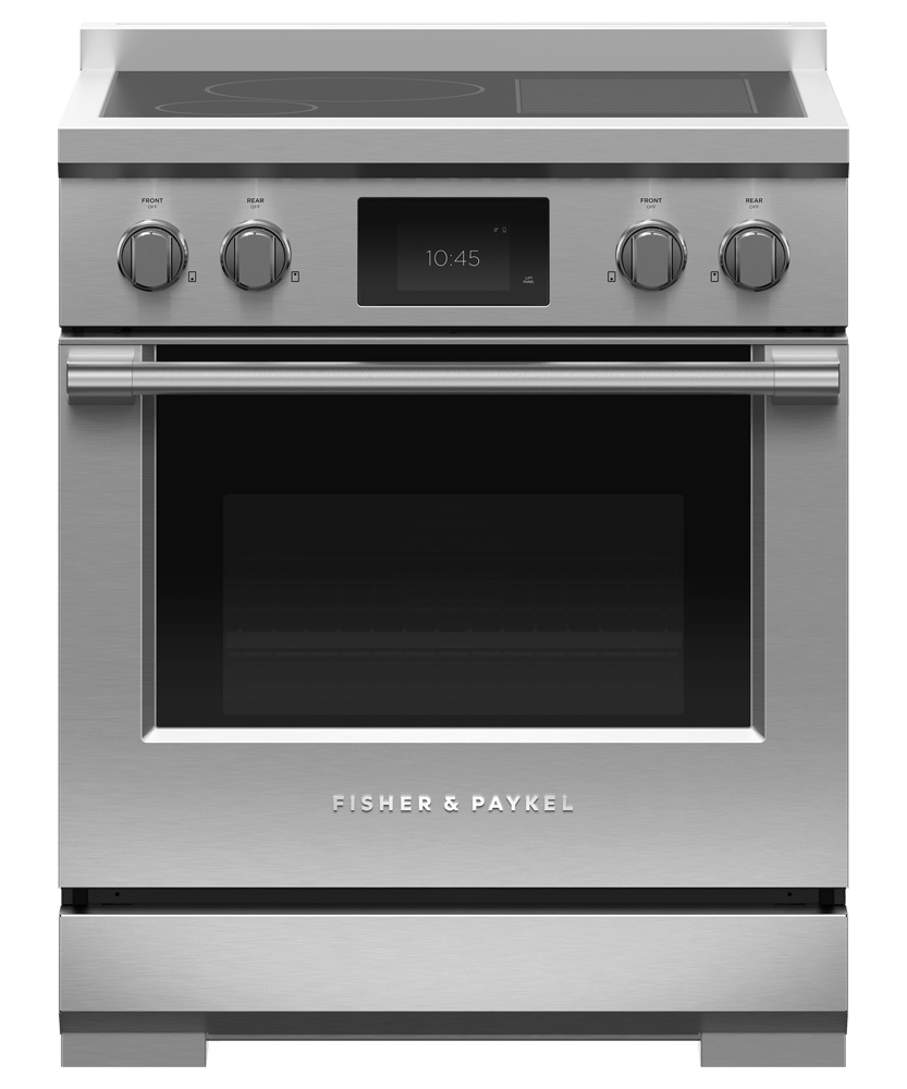 """Fisher & PaykelInduction Range, 30"""", 4 Zones With Smartzone, Self-Cleaning"""