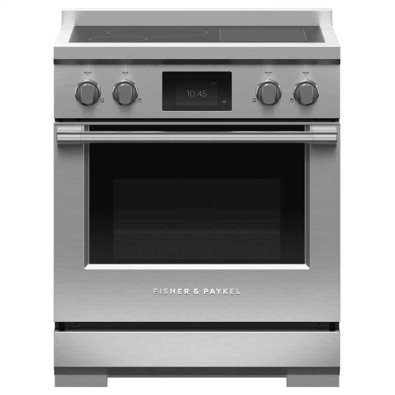 """Induction Range, 30"""", 4 Zones with SmartZone, Self-cleaning"""