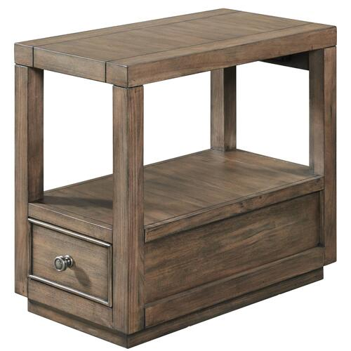 Riverside - Denali - Chairside Table - Toasted Acacia Finish