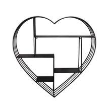 "Metal 31.5"" Heart Wall Shelf, Gunmetal"