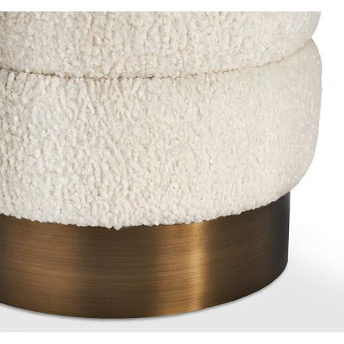 Charlize Stool - Boucle/ Bronze