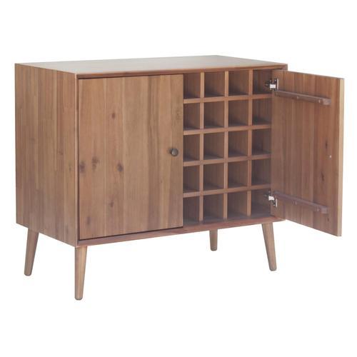 Henley KD Wine Cabinet 2 Doors, Newton Brown