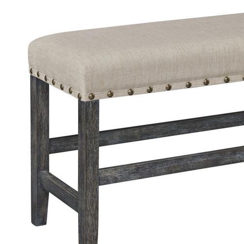 Auburn Counter Height Bench, Charcoal