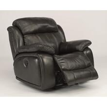 See Details - Como Leather Power Gliding Recliner