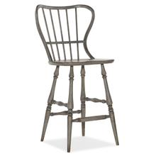 Ciao Bella Spindle Back Bar Stool-Speckled Gray