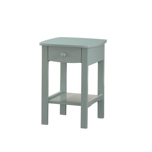 1 Drawer Nightstand-seafoam Green