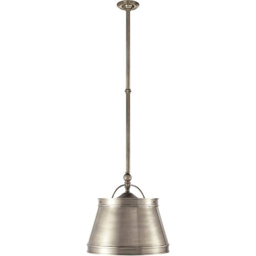 Visual Comfort CHC5101AN-AN E. F. Chapman Sloane 2 Light 16 inch Antique Nickel Hanging Shade Ceiling Light