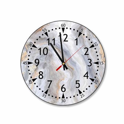 Grako Design - Grey Marble Round Square Acrylic Wall Clock