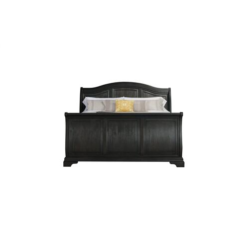 Cameron Charcoal Sleigh Bedroom - Queen Sleigh Bed, Dresser, Mirror, Chest, and Night Stand