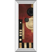 """Radius Panel Il"" By Kimberly Poloson Mirror Framed Print Wall Art"