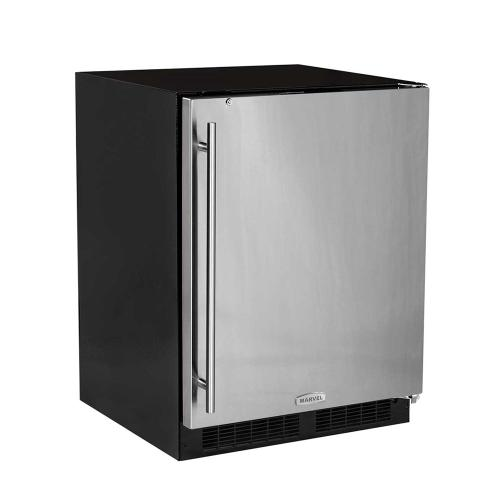 24-In Low Profile Built-In All Refrigerator With Maxstore Bin with Door Style - Stainless Steel, Door Swing - Right