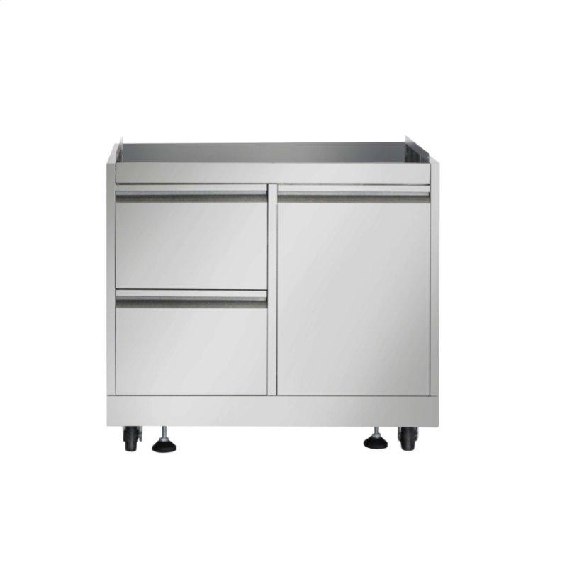 Outdoor Kitchen BBQ Grill Cabinet In Stainless Steel