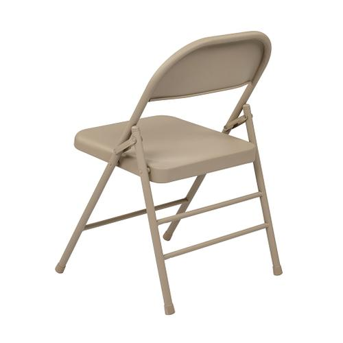 Office Star - Folding Chair With Metal Seat and Back