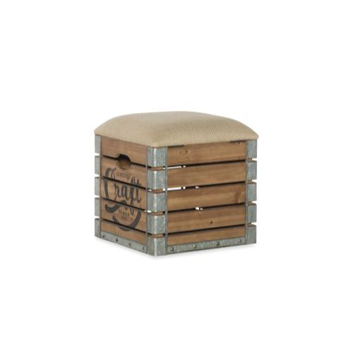 Padded Burlap and Hidden Storage Crate, Brown
