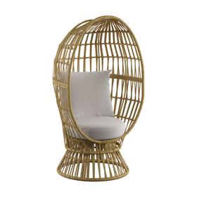 See Details - Outdoor Swivel Basket Chair