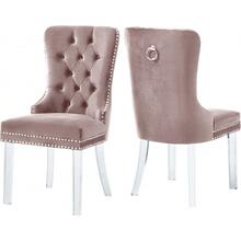 "Miley Velvet Dining Chair with Acrylic Legs - 21.5"" W x 27"" D x 40"" H"