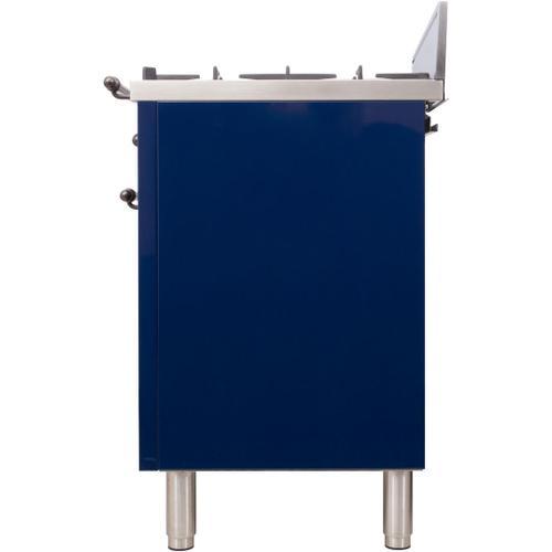 Nostalgie 30 Inch Gas Liquid Propane Freestanding Range in Blue with Bronze Trim