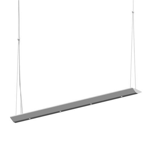 "Sonneman - A Way of Light - Votives LED Bar Pendant [Size=3', Color/Finish=Bright Satin Aluminum, Shade Size=.25"" height x 2.25"" diameter]"