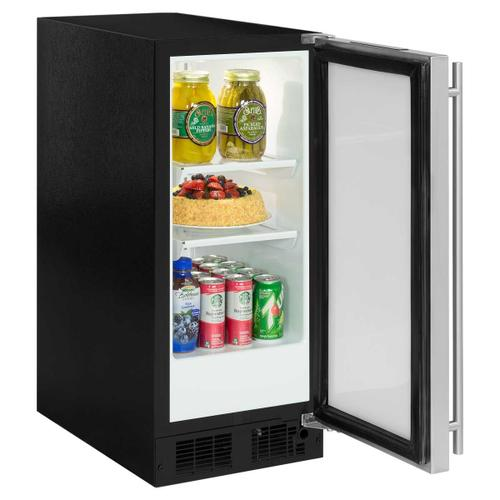 15-In Built-In All Refrigerator with Door Style - Stainless Steel, Door Swing - Right