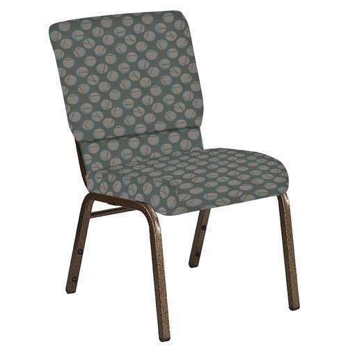 Flash Furniture - 18.5''W Church Chair in Cirque Olive Fabric - Gold Vein Frame