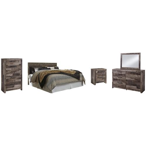 Product Image - King Panel Headboard With Mirrored Dresser, Chest and Nightstand