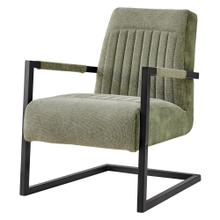 Jonah KD Fabric Arm Chair, Sage Green/Velvet Green