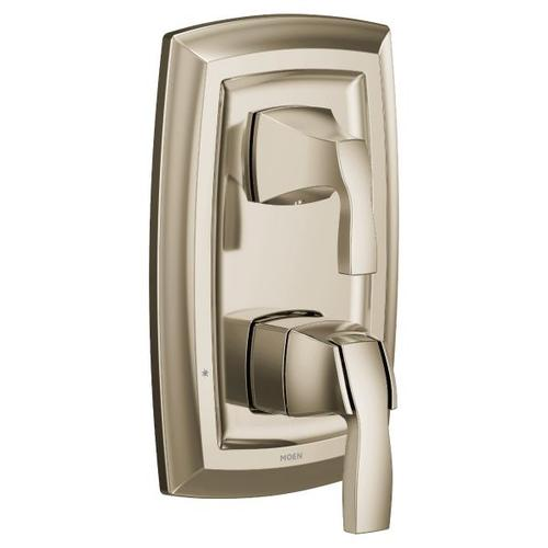 Voss polished nickel m-core 3-series with integrated transfer valve trim